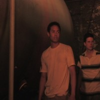 Jimmy (Jason Abustan) and Curt (Nick Lewis) have their first look at the warehouse