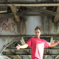 Jonathan Lacocque scopes out the El platform jump on Chicago's North Side