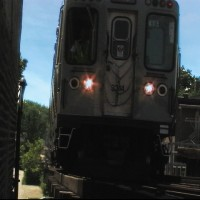 An EL Train Approaches Director of Photography RJ Blazen's face!  He had to get up close and personal for this one.