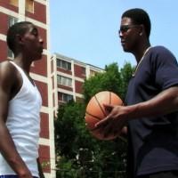 Tyrone (actor Harold Dennis) tempts Jonas (actor Johnny Wells)